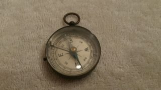 Vintage Brass Case Compass Made In Germany photo