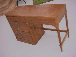 Ethan Allen Heirloom Four Drawer Dresser Desk Custom Room Plan Maple Wood photo