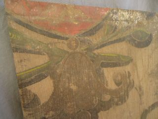 18th /19th Century Painted Fragment Panel photo