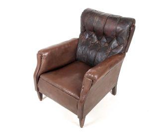 Antique Armchair Lounge Chair Swedish Parlour Chair Gentlemans Club Chair photo