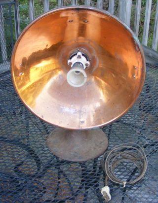 Vintage Copper Radiant Heater Art Deco Electric photo