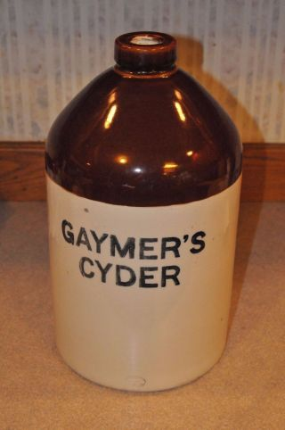 Antique Stoneware Cider Jug 1890 ' S Gaymers Cyder By Doulton & Co. photo