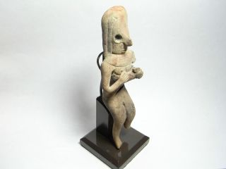 Indus Valley Harappa Culture Fertility Statuette & Stand 2500 Bc.  (a781) photo