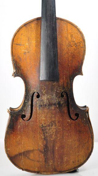 Antique 19thc ' Ole Bull ' Violin Vintage Stringed Instrument 4/4 Full Size Fiddle photo