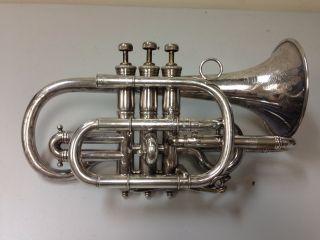 Wurlitzer Symphony Engraved Silver Cornet photo