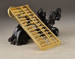 Chinese Old Handwork Collectibles Copper Rare Abacus Pendant Decoration photo