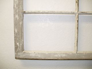 Vintage 6 Pane Wood Window Farmhouse Shabby - Chic Rustic Craft photo