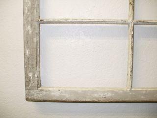 Vintage 6 Pane Wood Window Farmhouse Shabby - Chic Rustic Craft photo