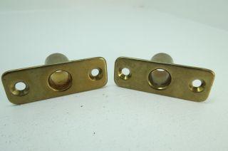 1/2 Inch Wilcox Crittenden Bronze Oar Lock Mounts Row Boat Brass (ol890) photo