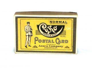 11 Old & Rare Cyko Blank Photo Postal Cards W/ Box Ansco Film Company 1917 photo