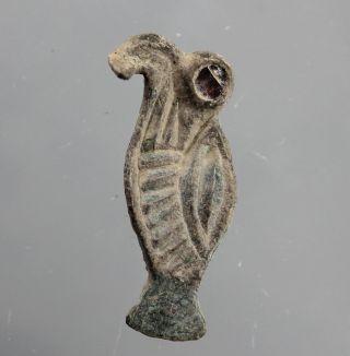 Rare Ostrogothic Eagle Brooch,  Fibula,  Bronze,  Glass,  Dark Ages,  6.  Century Ad photo