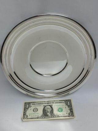 International Lord Saybrook Sterling Silver 10½ Inch Dish/tray 322 Grams 10 Oz. photo