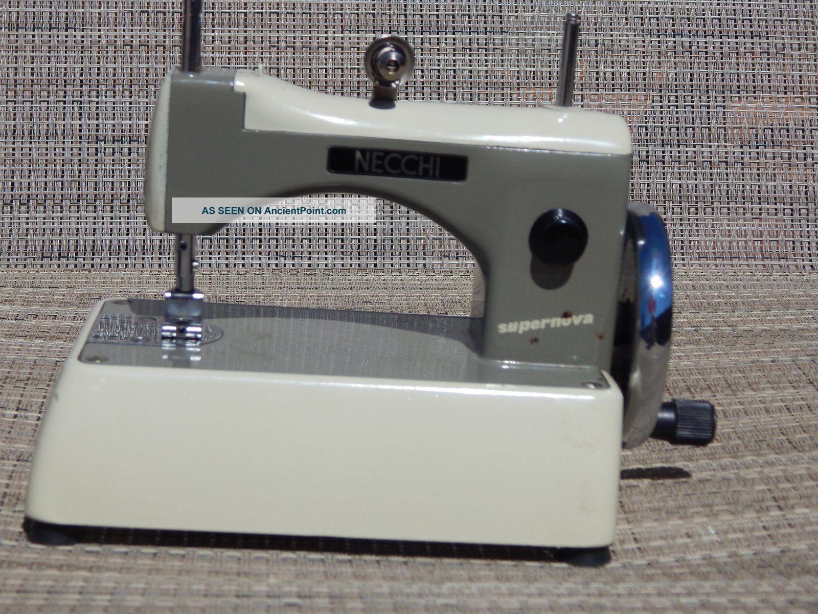 Necchi Bu Supernova Sewing Machine Threading Diagram Vintage Italian Mnecchi