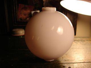 Antique Lightning Rod Ball White Milk Glass 5