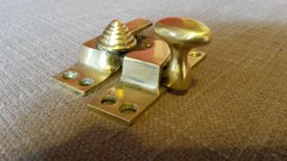 Sash Window Fastener Catch Latch Lock With Beehive Brass Fastener photo