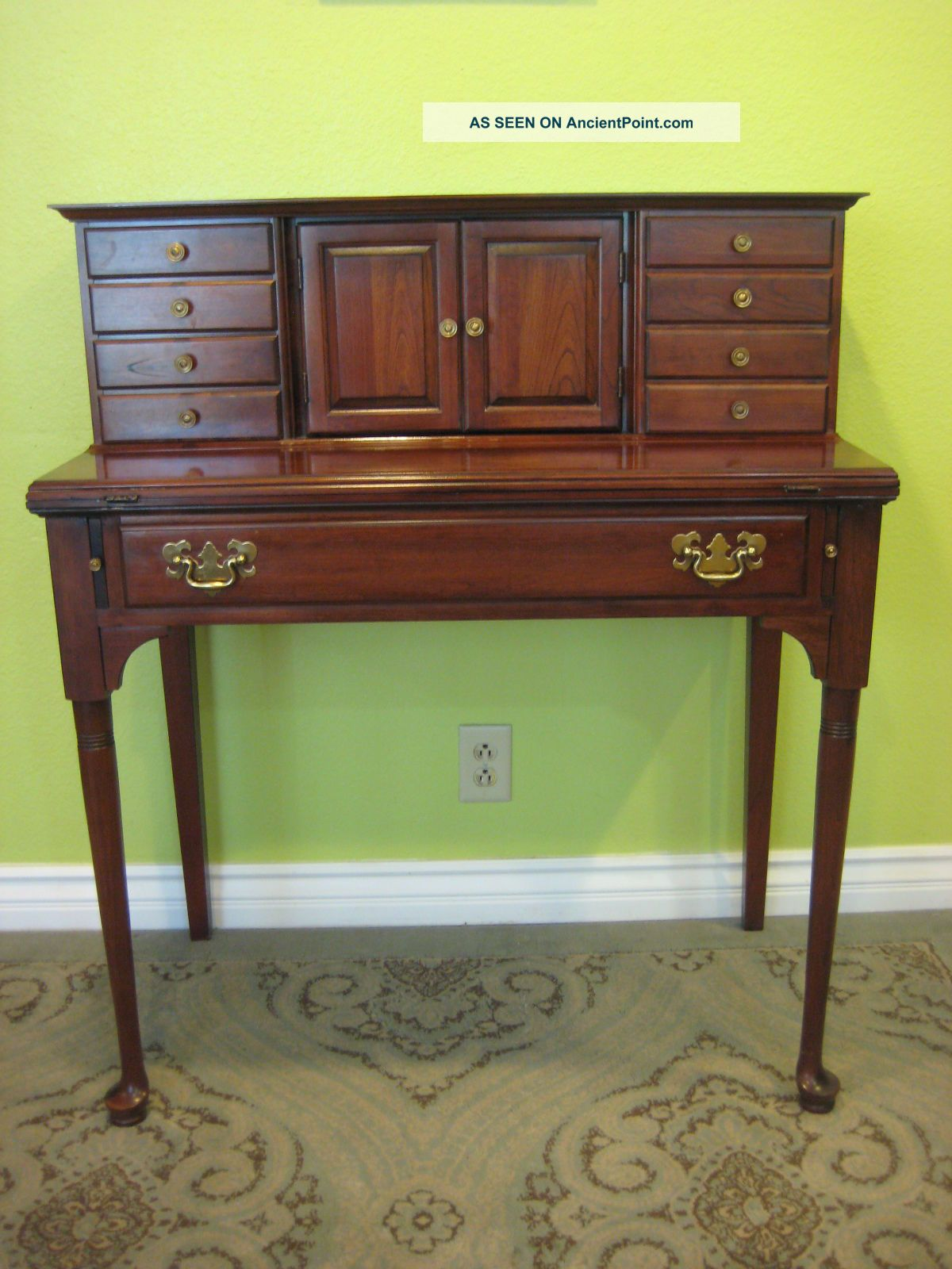 Marvelous photograph of  House 1969 Solid Cherry Ladies Writing Desk Secretary Desk with #93A823 color and 1200x1600 pixels