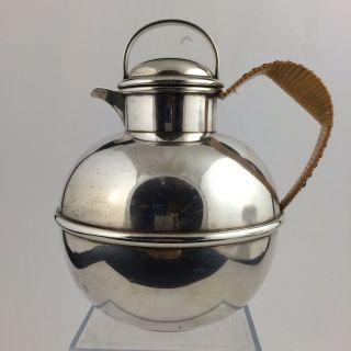 1945 Tuttle Silversmiths Boston Sterling Silver Steamed Milk Pitcher Tea Pot photo