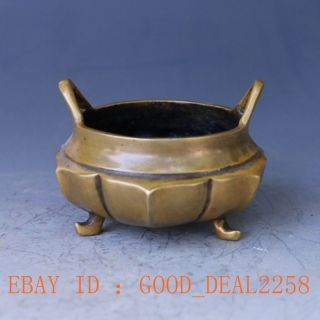 Old Chinese Handwork Craved Brass Pot W Ming Dynasty Mark photo