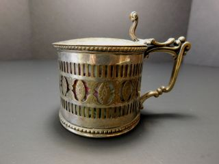 Very Rare & Unusual Piece Of Antique Aynsley Silverplate Lidded Cup Or Bowl photo