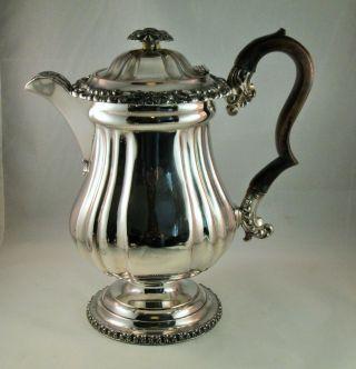 A Rare Old Sheffield Plate Georgian Coffee Jug - Ornate Detailing photo