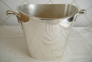 Silver Plated Oval Shaped Champagne/wine Bucket photo