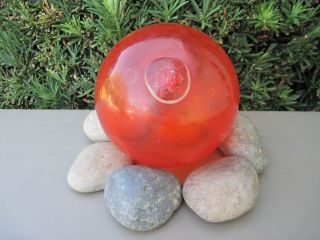 Red Orange Japanese Glass Fishing Float 20