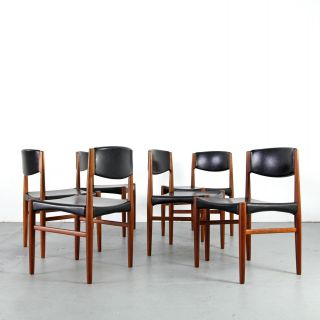6 Mid Century Dining Chairs By Glostrup Denmark 60s | Danish Modern Teak Stühle photo