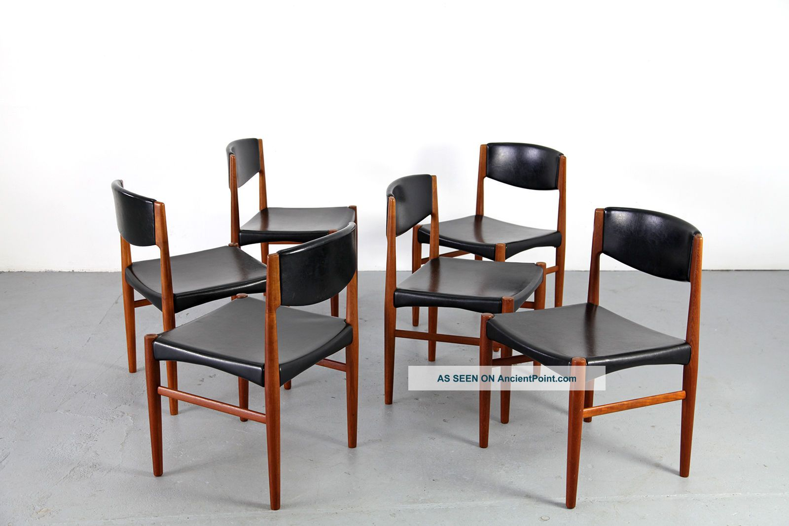 6 mid century dining chairs by glostrup denmark 60s danish m