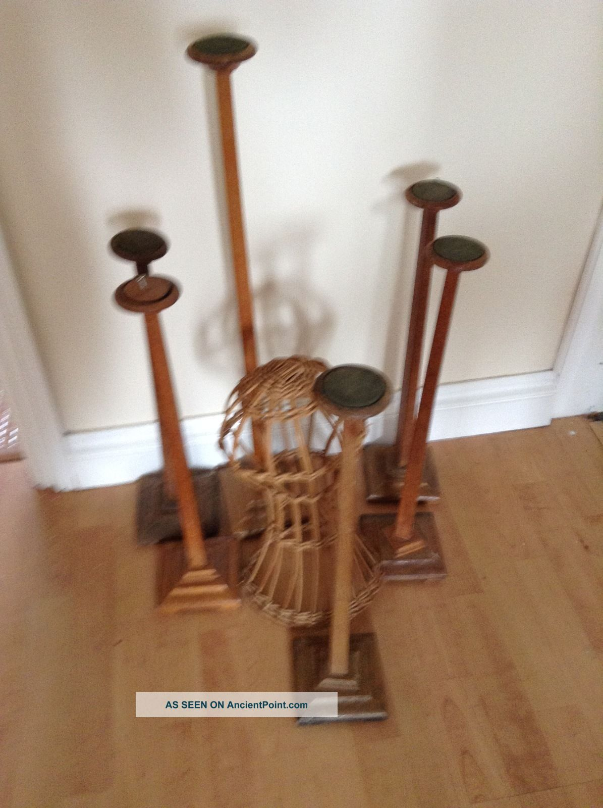 Antique Shop Display Hat Stands Stands photo