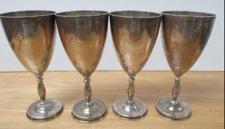 4 - 1950 ' S Fabian Sterling Silver (38.  8 Ounces) Goblets Mexican Sterling Silver photo