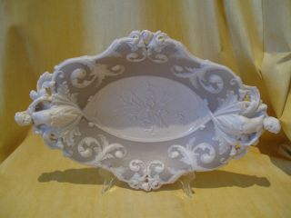 Hand Made Unique Porcelain Bowl/dish With Cherub Decoration photo