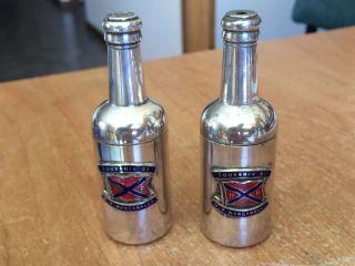 1930 ' S M.  V.  Wanganella Silverplate Salt & Pepper Shakers - Huddart Parker Melb. photo