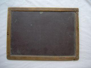 Antique 1900s School House Slate Board Chalkboard - Primitive - Double Sided photo