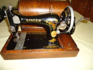 1914 Singer 128k Antique/vintage Hand Crank Sewing Machine Looks And Great photo