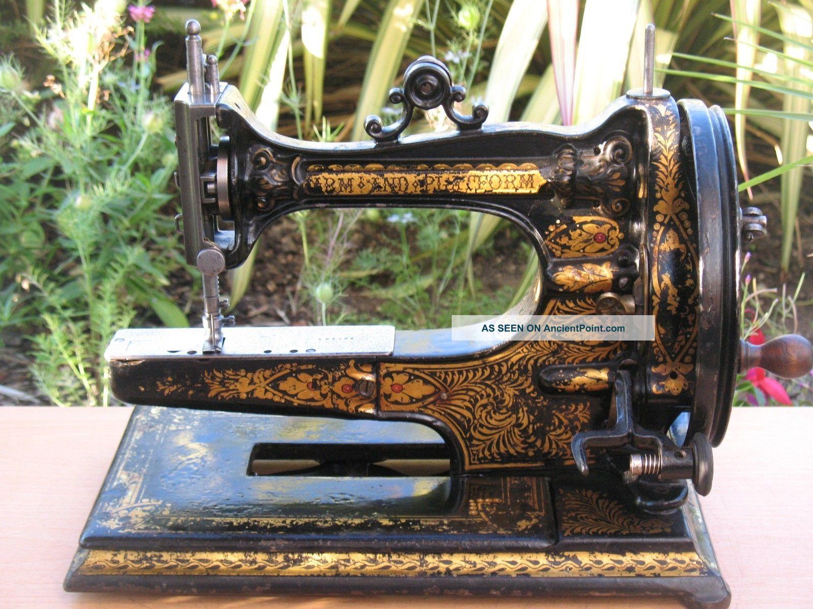Rare Antique 1875 Edward Ward Arm & Platform Sewing Machine Sewing Machines photo