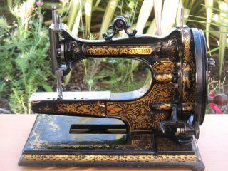 Rare Antique 1875 Edward Ward Arm & Platform Sewing Machine photo
