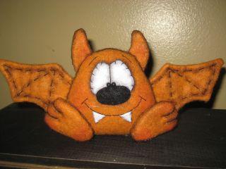 Primitive Hc Halloween Bat Doll Bowl Filler Shelf Sitter Ornie Tuck photo