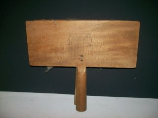 Vintage Whittemore No 10 Plantation Only Cotton Carding Paddles photo