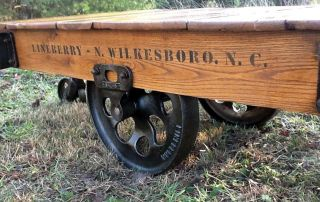 Antique Lineberry Industrial Factory Cart Coffee Table photo