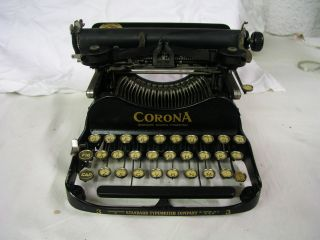 Antique Standard Folding Corona Typewriter No.  3 Standard Typewriter Co. photo
