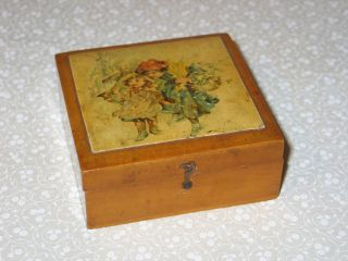 Antique 1894 Brook ' S Spool Cotton Glace Thread Wood Box,  Dated,  Victorian Art photo
