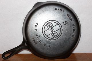 8 Griswold (large Block Logo) P/n 704 P Cast Iron Skillet Erie Pa. ,  U.  S.  A. photo