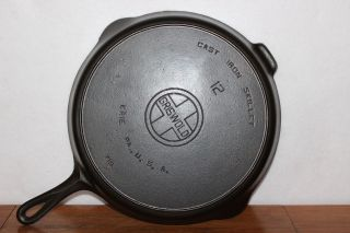 Griswold 1920 Block Logo Size 12 Cast Iron Skillet P/n 719