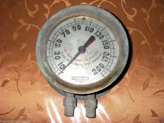 Antique Solid Brass Steam Pressure Gauge The Jas Morrison Brass Mfg Co.  Toronto photo