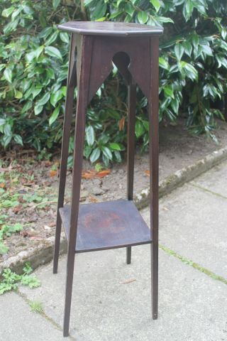 Antique Wooden Arts & Crafts Plant Stand C.  1930 photo