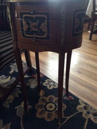 French,  Ormolu,  Pair Side Tables/ Night Stands photo