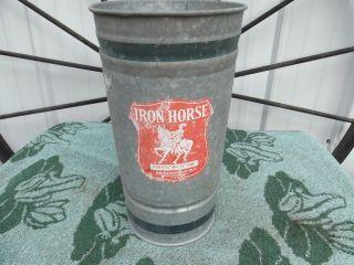 Antique Vintage Small Galvanized Metal Bucket Unusual Shape photo