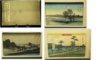 Japanese Wood Block Print 16 Sheet Ukiyoe