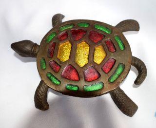 Vintage Cast Iron Turtle Trivit photo