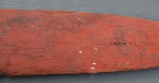 Old Aboriginal Painted Ceremonial Board photo